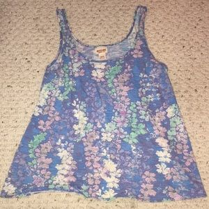 Mossimo Blue Floral Tank Top